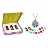 4588e4f88d57 doTerra Trio esenciálnych olejov + Aroma náhrdelník Vincenza strieborný