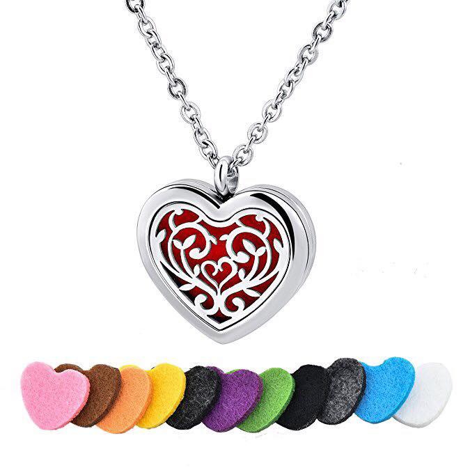 c383aedd4 Aroma náhrdelník Srdce chirurgická oceľ   zdravko-eshop