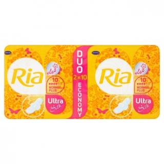 Ria Ultra Silk Normal Plus Duopack s krídelkami 20 ks
