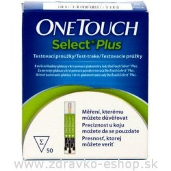 Prúžky testovacie ONE TOUCH SELECT PLUS 50 ks